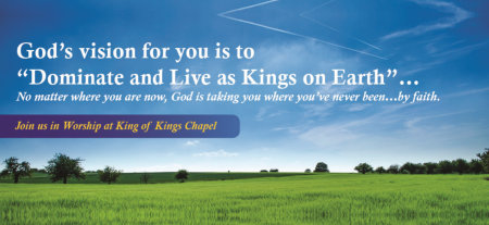God's vision for you is to, dominate and live as kings on earth